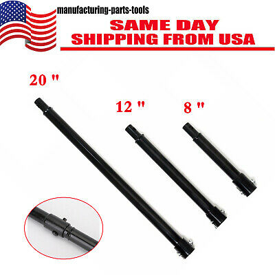 3pc Extension Auger 3 Size 20 12 8 Long 34 Shaft Gas Post Hole Digger Earth