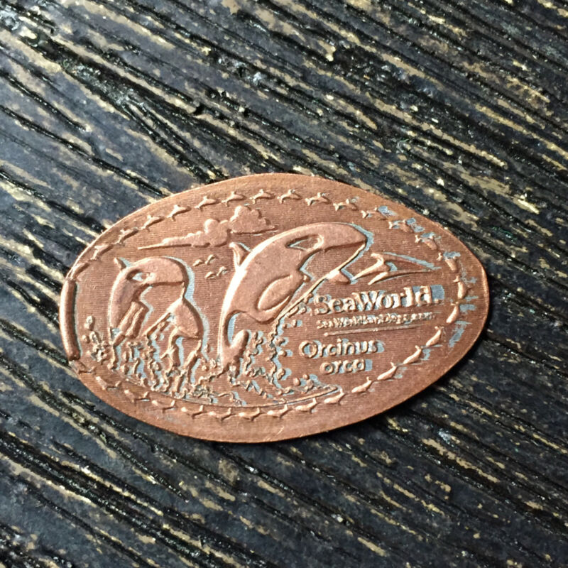 Sea world orcas jumping Pressed smashed elongated penny P7921