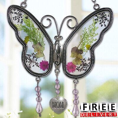 Mothers Day Jewelry (Mothers Day Gift Butterfly Suncatcher Mom Fashion Jewelry Women Heat Charm)