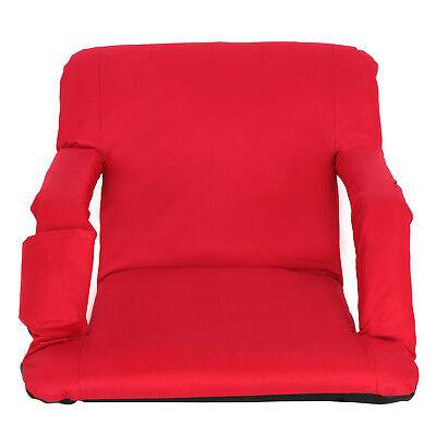 Folding Waterproof Bleacher Seat Extra Wide Stadium Seat W/ Storage Pockets