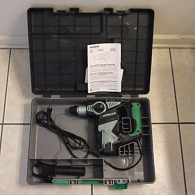 Hitachi Dh28pd 1-18 Sds Plus Rotary Hammer Drill Kit No Dust Collection