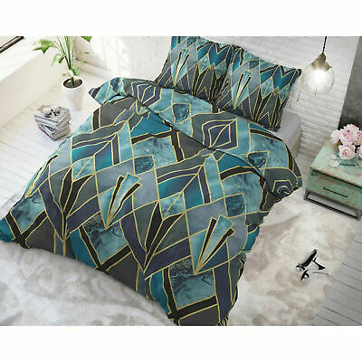 Bettwäsche Set Baumwollemischung 2 Teile Bettgarnitur 140x220cm Türkis