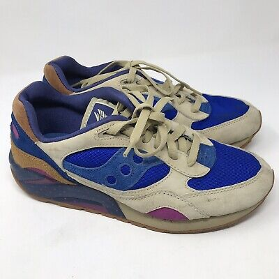 Saucony Blue Shoes - Saucony Shadow Mens Running Shoes Size 9 Blue Brown 60687 08/14 Nylon Leather
