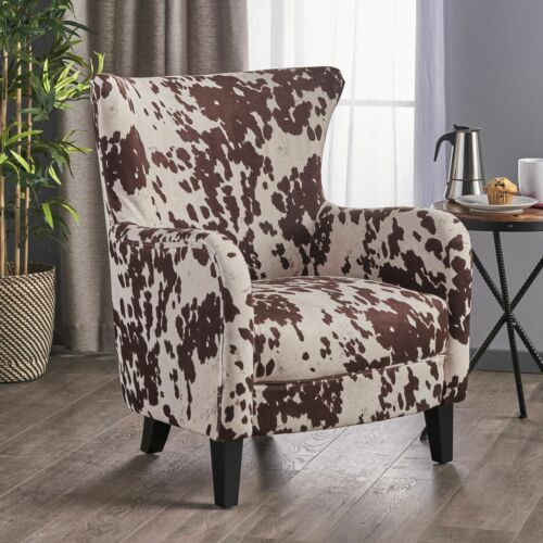 Analy Classic Milk Cow New Velvet Club Chair Chairs
