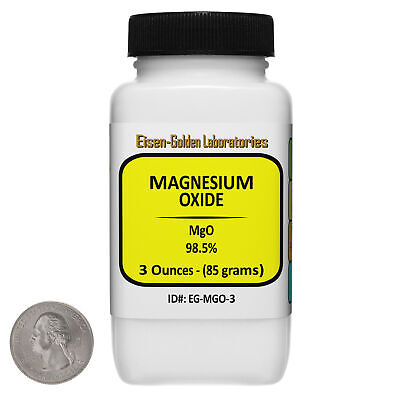 Magnesium Oxide Mgo 98.5 Usp Food Grade Powder 3 Oz In A Bottle Usa