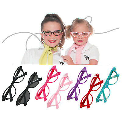 Hip Hop 50s Shop Child Cat Eye Glasses Poodle Skirt Halloween Costume Accessory - Baby Poodle Costume