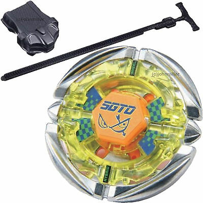 Flame SAGITTARIO Metal Fusion 4D Beyblade STARTER SET w/ Launcher & (Fire Car Games)
