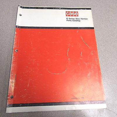 Case C Series Disc Disk Harrow Parts Catalog Manual 898 1971