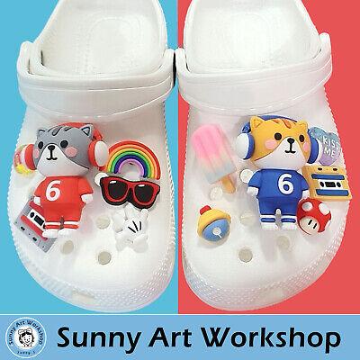 Shoe Charm Ornaments Accessories for Crocs-Similar Shoes - Musician Set