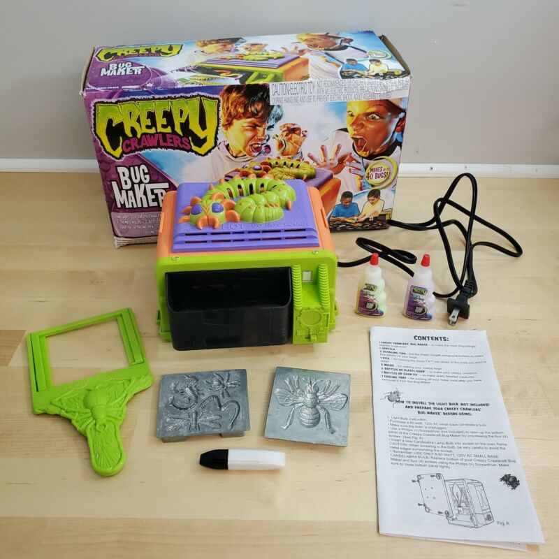 Jakks Pacific Creepy Crawlers Bug Maker ~ box molds accessories ~ Tested & Works