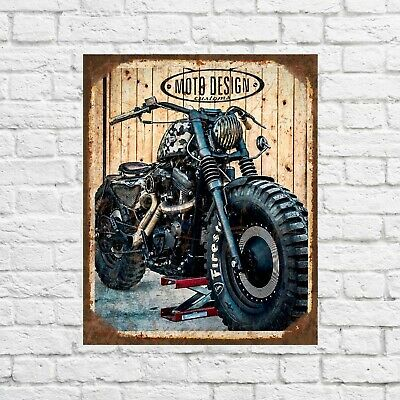 Motorbike sign, Motorcycle sign, Motorcycles sign, Garage signs, biker sign