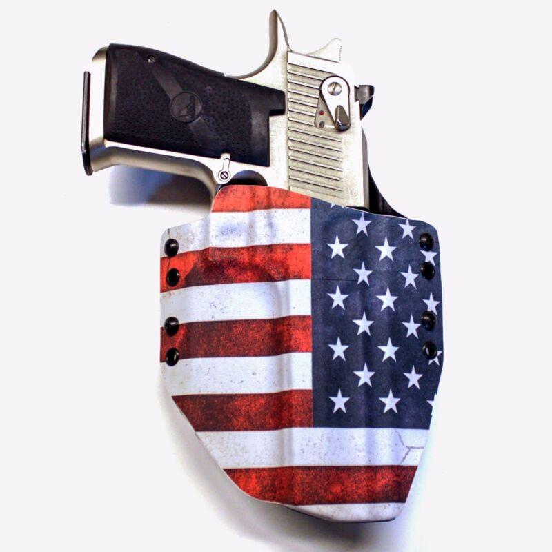 OWB HOLSTER R/&R HOLSTERS USA SLANTED B/&W For Glock Handguns