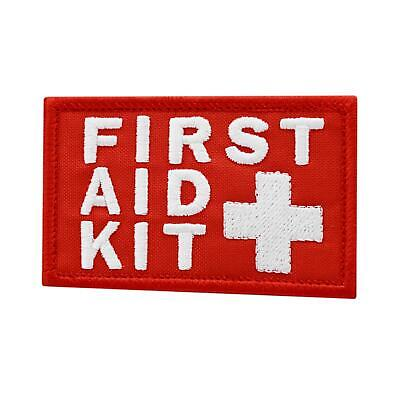 First Aid Kit IFAK White/Red embroidered Medic Paramedic MED Trauma hook patch