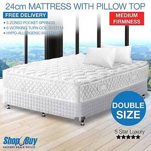 Brand New: Medium Firm 24cm Mattress Pillow Top High Density Melbourne CBD Melbourne City Preview