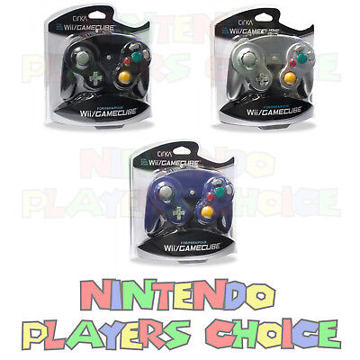 3 BRAND NEW CONTROLLERS FOR NINTENDO GAMECUBE or Wii - BLACK, SILVER and PURPLE