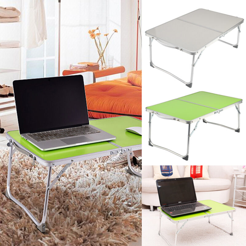 Portable Folding Picnic Camping Desk Laptop Table Bed Dinner Computer Lazy Tray