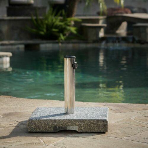 Howard 55-pound Square Grey Granite Umbrella Base Garden Structures & Shade