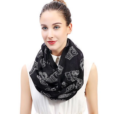 Vintage Camera Print Womens Infinity Loop Scarf photographer Gift Idea for Her