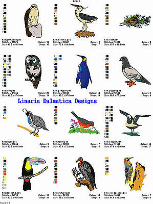 BEAUTIFUL BIRDS V. 2(4x4) LD MACHINE EMBROIDERY DESIGNS