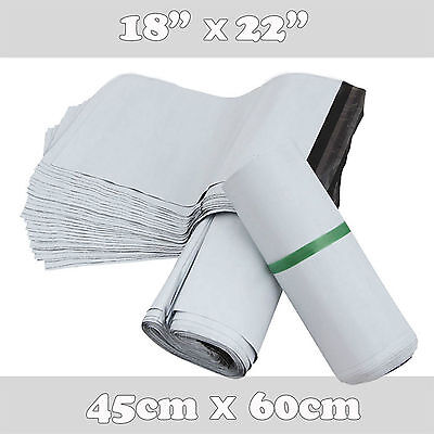 500 Extra Large Plastic Mailing Poly Postage Bags Shipping Bags 18x22 45x60cm