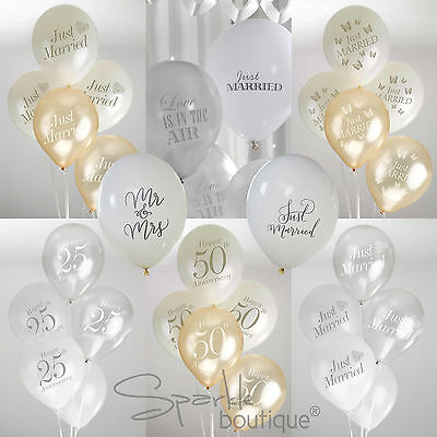 WEDDING & ANNIVERSARY BALLOONS - Shabby Chic / Vintage Theme - Party Decorations