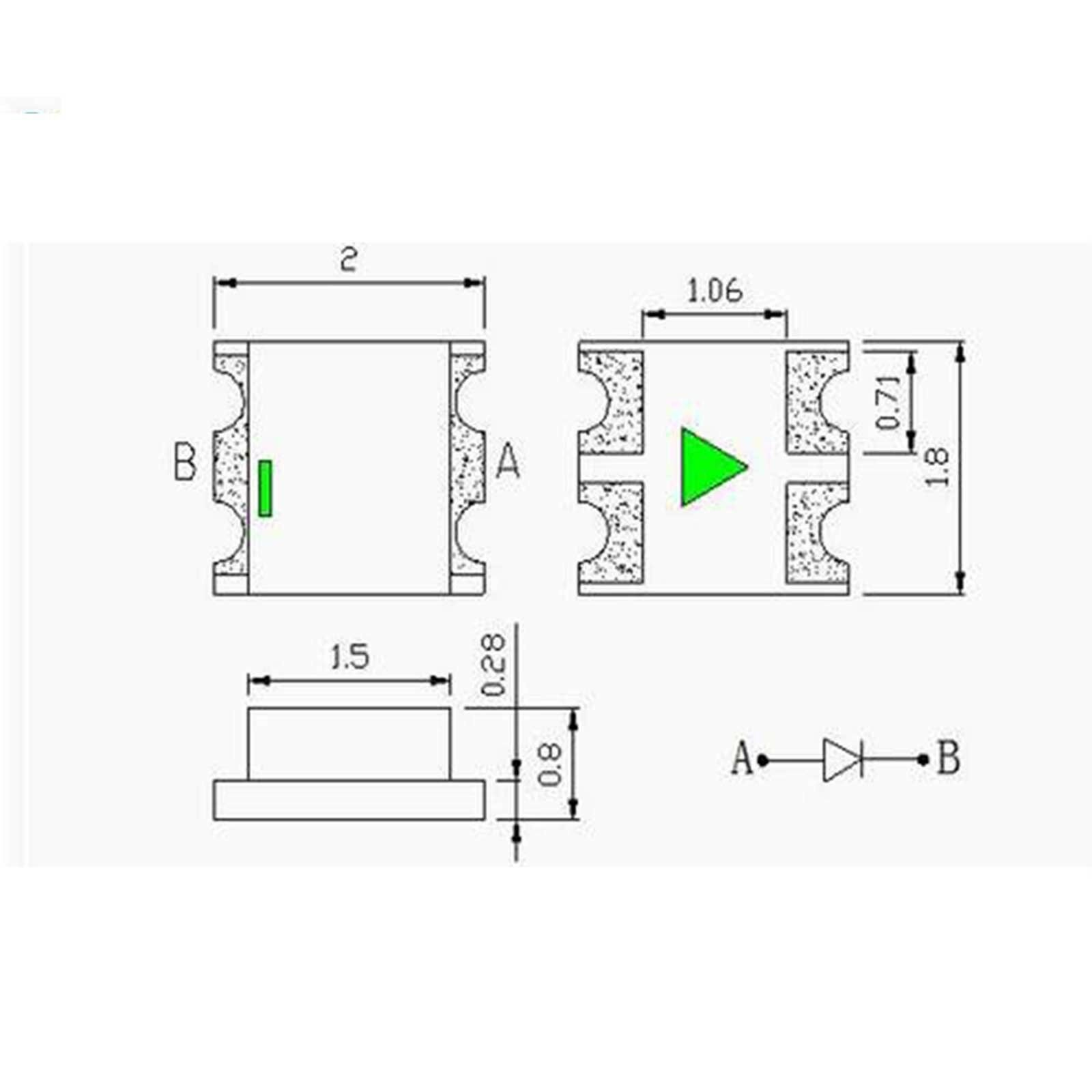 50 x 12v 0807 0805 Blue Micro Flashing SMD Pre-Wired LED Light Blinking 9v 18v