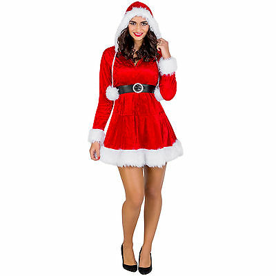 Sexy Damenkostüm Weihnachtsfrau Karneval Kostüm Nikolaus Weihnachten Santa (Karneval Damen Kostüm)