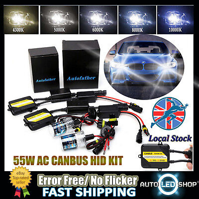 For BMW 3 Series F30 F31 55W AC H7 HID Xenon Error Free Light Bulb Kit All Color