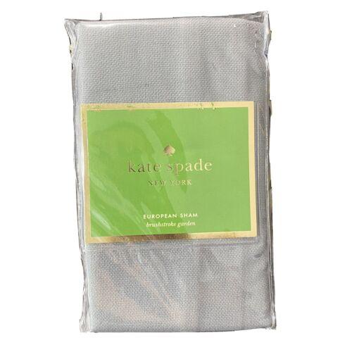 Kate Spade New York Euro Pillow Sham GRAY WHITE 26×26 Brushstroke Garden Bedding