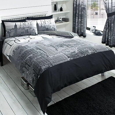 NEW YORK CITY DOUBLE DUVET COVER SET NEW