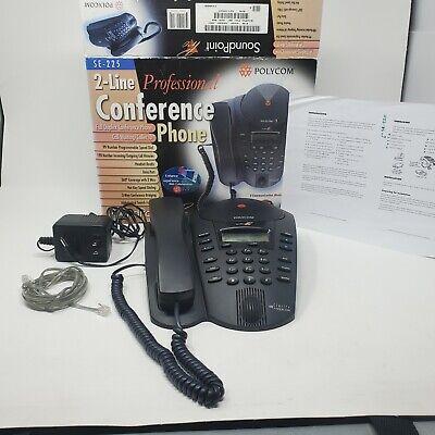 Polycom Soundpoint Pro Se-225 2 Line Desktop Conference Speaker Phone