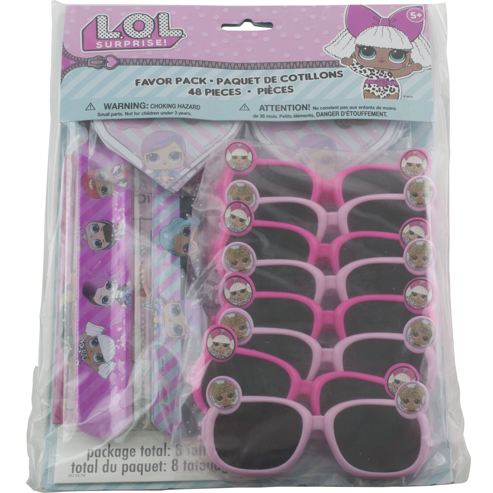 LOL Surprise Birthday Party Supplies Favor Pack 48 Pc Bracelets Tattoos Stickers