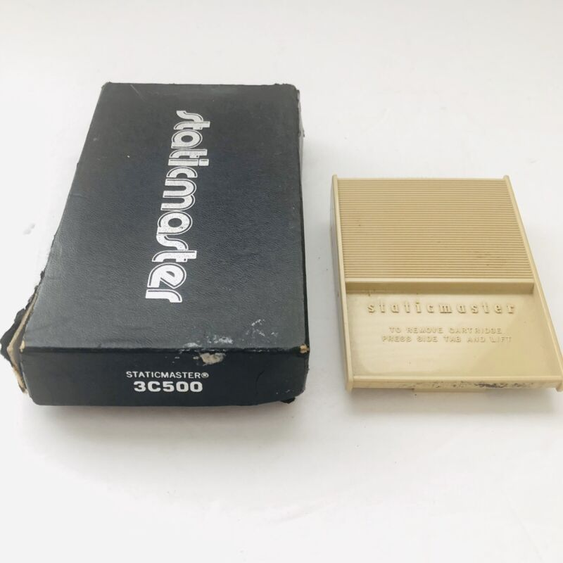 """STATICMASTER 3C500 BRUSH 3"""" WITH BOX! For Darkroom Anti-Static Records Vintage"""