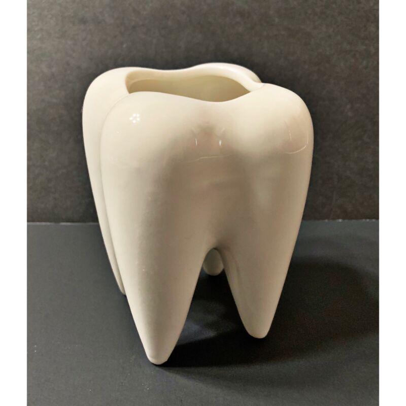 RARE Tooth Molar Ceramic Tooth Shaped Planter Dentist