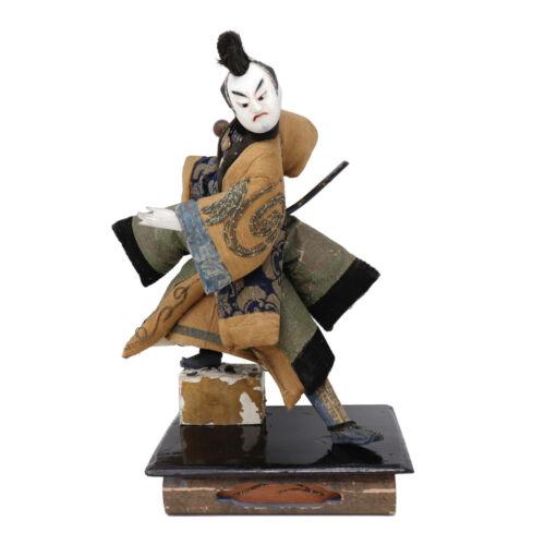 Antique Japanese Takeda Ningyo of a Kabuki Actor as Samurai