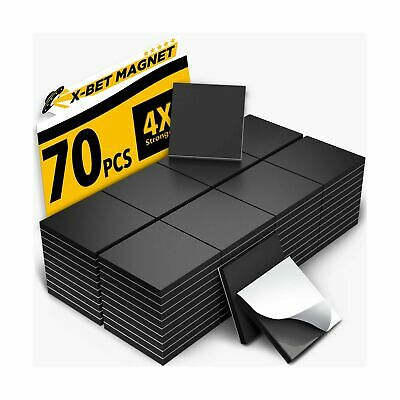 Magnetic Squares - 1 Tape Flexible Magnetic Sheet Of 70 Self Adhesive Magnetic S