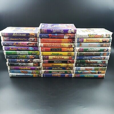 Walt Disney Movies Lot of 42 Original Masterpiece Collection VHS Tapes