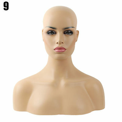 Realistic Mannequin Head Fiberglass Hat Glasses Mold Stand Torson Wig African 9