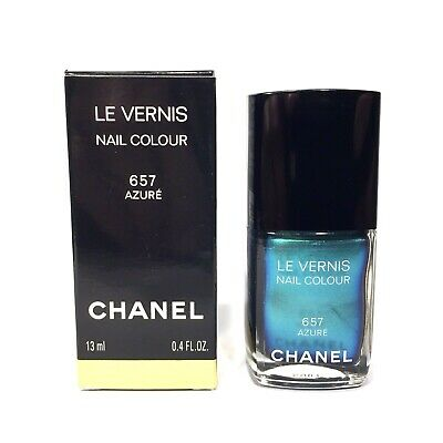 CHANEL Le Vernis 657 Azure Metallic Blue Nail Enamel Color Polish 0.4 fl oz , used for sale  New York