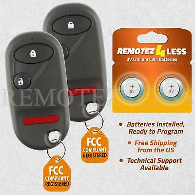 Replacement for Honda Civic CR-V Element Keyless Entry Remote Car Key Fob Pair