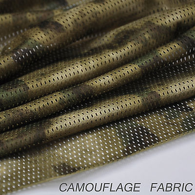 """A-TACS FG Camouflage Camo Net Cover Army Military 60""""W Mesh Fabric Cloth, used for sale  Shipping to United Kingdom"""