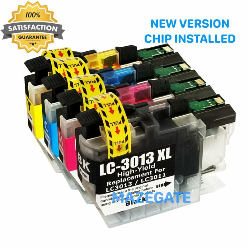4pk LC3013 Ink Cartridges for Brother LC3011 MFC-J491DW J497DW MFC-J895DW J690DW