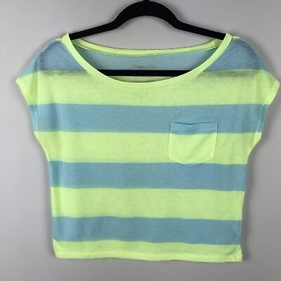 American Eagle Outfitters Womens Feather Light Stripe Tee Shirt Sz XS for sale  Davison