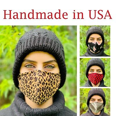 Face Mask With Filter Reusable Washable Made In Usa Unisex Adult