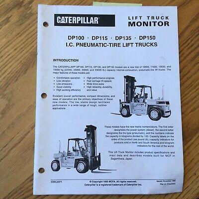 Cat Caterpillar Dp100115135150 Fork Lift Truck Monitor Sales Brochure Manual