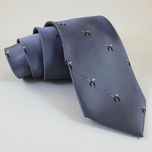 Masonic Tie Shrine Gray Black Shriner Polyester Poly Freemason Mason