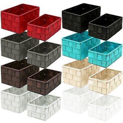 2er Korb Set Badkorb Deko Box Regalkorb Schrankkorb Aufbewahrungskörbe Organizer - Bad Korb-set