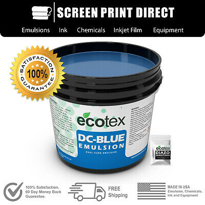 Ecotex Blue Dual Cure Emulsion - Graphic Emulsion For Screen Printing - Gallon