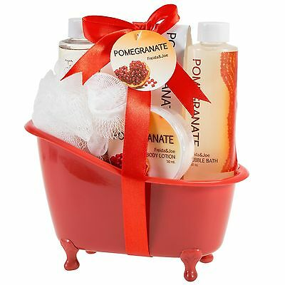 - Pomegranate Scent, Bath and Body Spa Gift Basket Valentines Day Gifts for Her