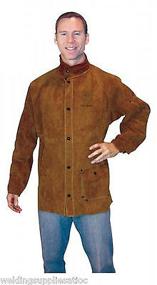 Tillman 3830 Medium Dark Brown Leather Welding Jacket 3830m